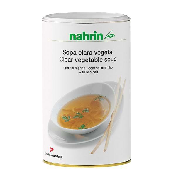 Sopa clara vegetal sin grasa de nahrin